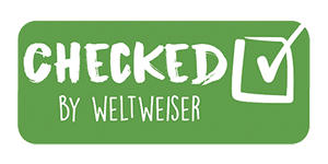 Checked by weltweiser Partnersiegel